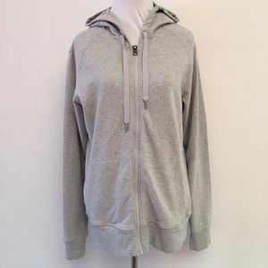 Lululemon Gray Full Zip Hoodie Jacket Size 10